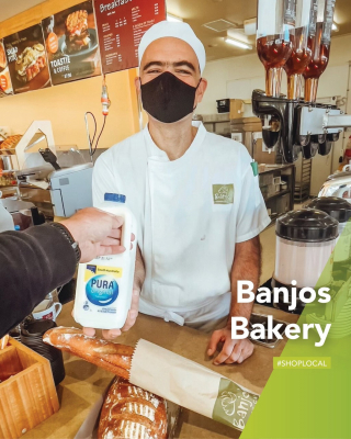 Grab your fresh bread and milk, and maybe a cheeky pastry or sweet treat too, it is Sunday after all! 😍 - @banjosbakery open for takeaway during lockdown 84 Langtree Ave Mildura.