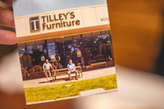 Tilley's Furniture as we know it today has grown and changed from the Treasure Trove it started out as in 1972 when Cam's Mum and Dad first founded the Mildura institution that we all know and love.  - Len and Barb Tilley first came up with the idea of a treasure trove of secondhand furniture after a succession of successful garage sales, soon leading to opening the doors of what we now know as Tilley's.  - It was in 1992 that Cam joined the family business, leaving his career as a mechanic and settling into Mildura after travelling. Marrying Jacqui in 1997 and opening a new store in 1998, Cam and Jacqui worked together to expand the business into the 2000sqm store they have today.  -  With Jacqui's eye for interiors and aesthetic for beautiful furniture complementing Cam's strong business acumen, Tilley's soon transformed from selling used furniture into a showroom that brings quality furniture, home furnishings, decor items and art from all over the world. For Cam, the greatest lesson he learnt from his Dad when it comes to business it to always be fair to everyone and work hard.