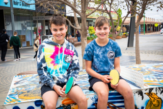 There's something for everyone this School Holidays!  - If you've wandered through the Langtree Mall in the past week you might have spied the giant Chess and Jenga awaiting someone to challenge, the table tennis table bats ready at the net, and the basketballs are out ready to shoot some hoops.