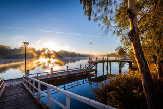 What a way to end the week! A stunner of a sunrise this morning in Mildura.