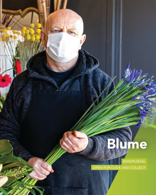 Lockdown can be tough, take a moment to brighten someone's day with a beautiful bunch of blooms from Blume florist.  - Open for click and collect @blumebycolinstraub