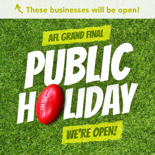 Tomorrow might be a public holiday, but there will be plenty of doors open throughout the Mildura City Heart!  - Stroll the AFL public holiday away browsing the shops, enjoying the cafes and restaurants, or book in that long overdue pamper appointment (lockdown we're looking at you!).  - For the list of stores and opening hours visit milduracity.com.au