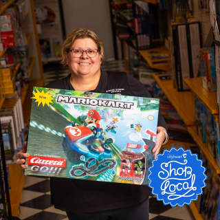 """When Leonie Darling bought her son a remote control car for Christmas when he was 12, she could never have imagined it would spark a love of tinkering and toys that would later become a business. - Leonie and her son Aaron, now 24, work together at their shop @borderhobbiesmildura, and love passing their passion on to others who walk into the store. - And Leonie says it's not just children who find joy in the shop, but there's plenty for """"big kids"""" too. - Read more about their story on our website! Link in Bio"""