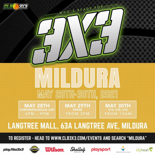 The CLB3X3 Mildura Showcase is coming to Mildura and is shaping up to be one of @clb3x3 's biggest comps of the year!  - The comp is taking place under the pavilion in the Langtree Mall from May 28th to 30th. All abilities are welcome to compete in social, corporate, opens, elites and junior divisions! 🏆  Visit CLB 3x3's website for all of the details on how to sign up! (Chrome browser preferred)📲  Supported by Mildura Rural City Council and Mildura City Heart
